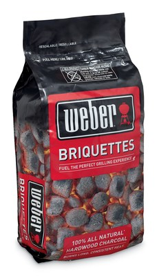 New Weber Briquettes are made from 100 percent all natural hardwood that does not include any unwanted chemical binders or fillers, produce less ash, and provide a long, consistent heat requiring less need to refuel during the Big Game.