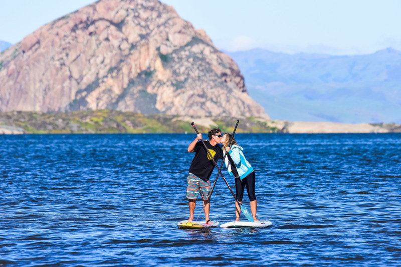 Ken and Sandi Twist of the Paddleboard Company having a romantic paddle. Photo credit: Glenn Dubock