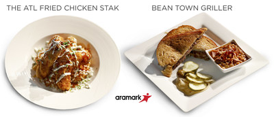 At Super Bowl LI in Houston, Aramark, the exclusive food and beverage partner of NRG Stadium, has created a game day line-up that will have hungry fans downing Lone Star-inspired offering like a linebacker on a fumble. To honor the two teams competing in this year's game, Aramark created two items that pay tribute to the New England Patriots and Atlanta Falcons, using signature ingredients from each team's hometown: The ATL Fried Chicken Stak & Beantown Griller.