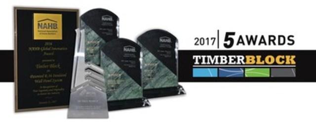 Recipient of 5 awards (CNW Group/Timber Block)