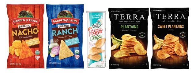 New Snacks from Garden of Eatin'(R), Sensible Portions(R) and TERRA(R) for the Big Game or Anytime Snacking