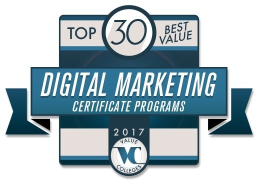 The Mini-MBA: Digital Marketing offered by Rutgers Business School Executive Education as well as a Digital Marketing Certificate Program Rutgers offers in partnership with Notre Dame's Mendoza College of Business were named to Value Colleges Top 30 Digital Marketing Certificate Programs for 2017.
