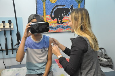 Parents, children and staff report less pain and fear when children use virtual reality headsets during vaccinations, according to a study conducted by Sansum Clinic's Dr. Mark Silverberg