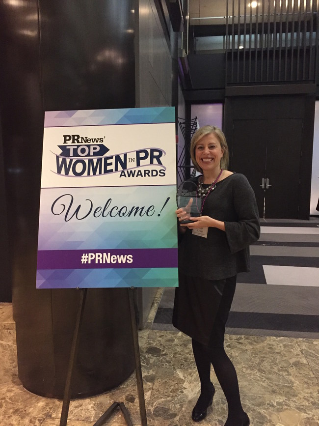 Amy Lyons, Managing Partner, SHIFT Communication, at the PR News' Top Women in PR Awards Luncheon in New York City.