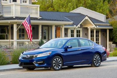 "2017 Honda Accord Hybrid, Fit, HR-V and Ridgeline Receive Kelley Blue Book ""Best Resale Value"" Awards (PRNewsFoto/American Honda Motor Co., Inc.)"