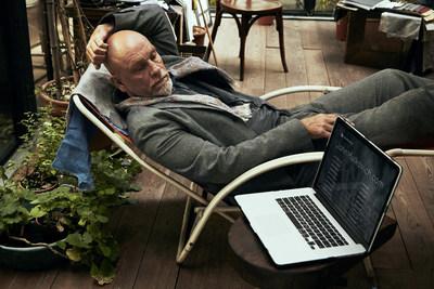 John Malkovich contemplates his online identity. (PRNewsFoto/Squarespace)