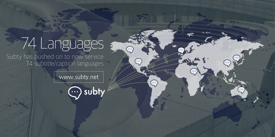 Subty now services 74 subtitle/caption languages, with the best rates in the industry. An increased number of service providers enables fast production of sizeable volumes, and they all have been vetted by Subty, guaranteeing quality and reliability.