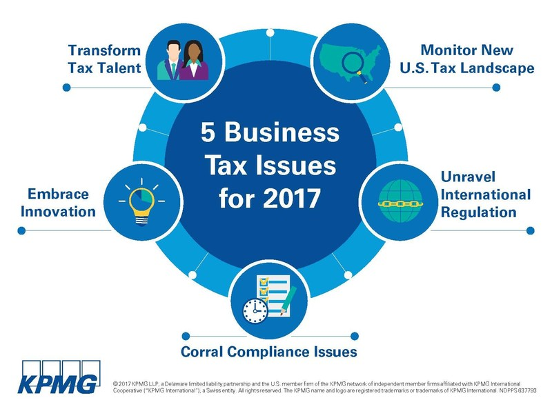 """""""The tax action list for business leaders in 2017 is relatively short, but it is critical for organizational success,"""" says Jeffrey C. LeSage, Vice Chairman-Tax at KPMG LLP."""