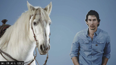 "Image from SNICKERS(R) new Super Bowl ad trailer, titled ""Horse Casting."""
