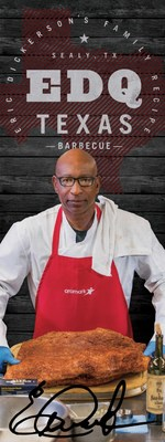 Trading his football jersey for a chef's jacket, Professional Football Hall of Fame running back Eric Dickerson has partnered with Aramark to develop a barbecue concept featuring Dickerson's long-held family sauce recipe.