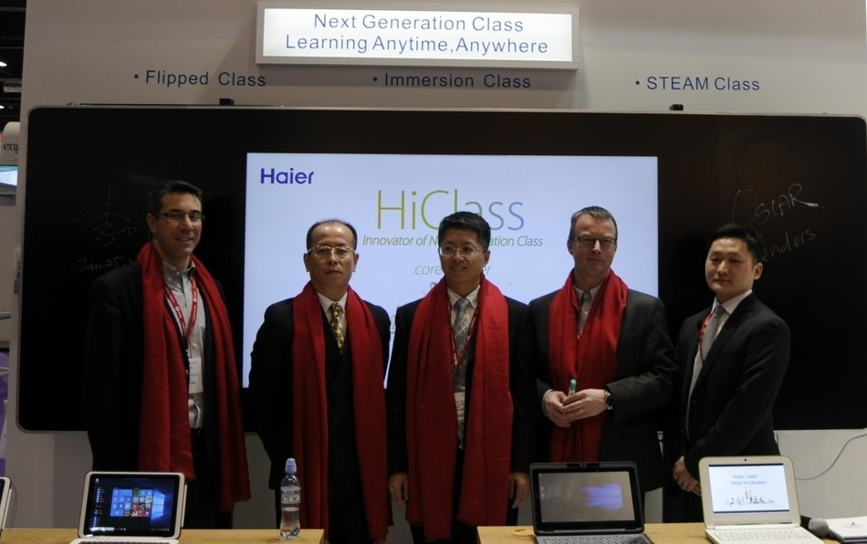 Inviting global partnership to found Global Education Ecosystem (PRNewsFoto/Haier)