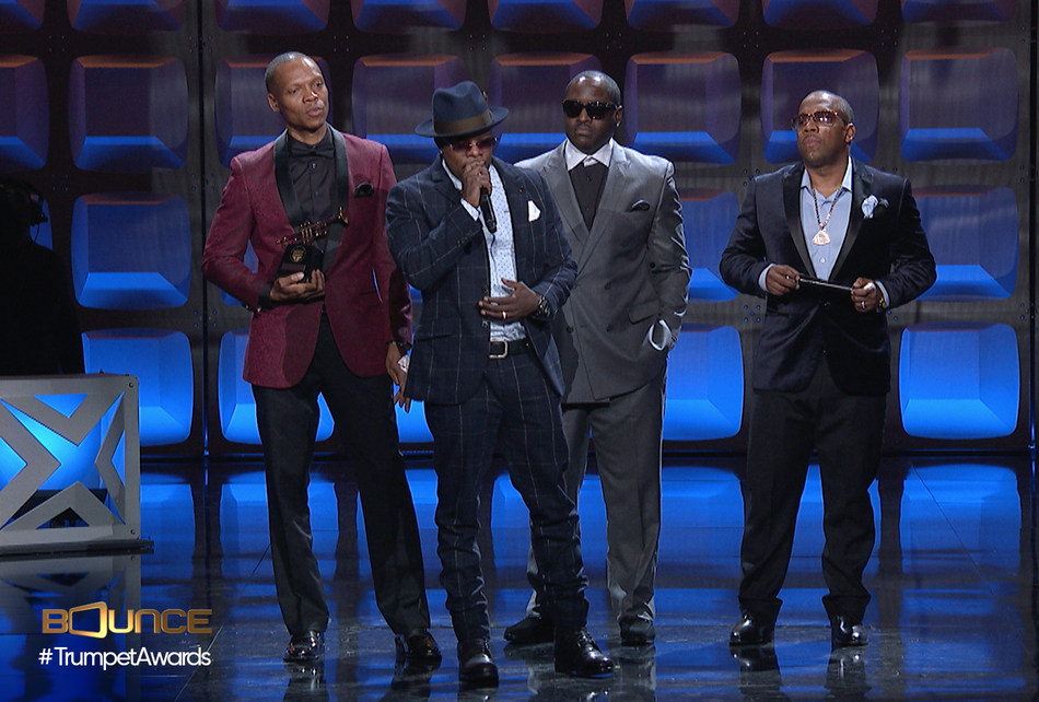 Iconic R&B group New Edition accepts their Lifetime Achievement Trumpet at the 25th Annual Trumpet Awards, the prestigious annual event celebrating African-American achievements and contributions, set to world premiere on Sunday, January 29 at 9:00pm ET on Bounce. Visit BounceTV.com for more information.