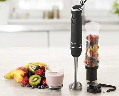Gourmia's Handheld Immersion Personal Smoothie Maker is one of many products designed for a healthy lifestyle.