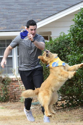 NFL quarterback Aaron Murray and his dog Georgia are gearing up with the PEDIGREE(r) Brand for the Puppy Bowl.