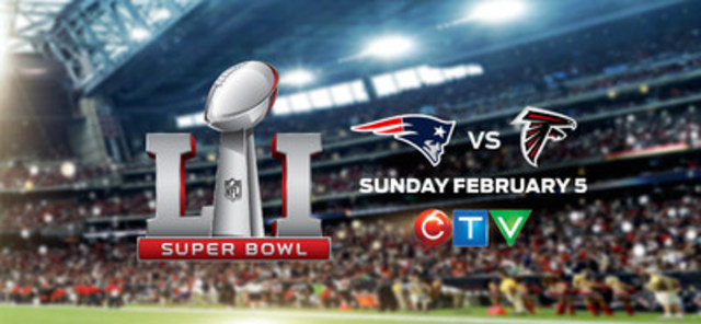 SUPER BOWL LI to be Broadcast in Triple-Simulcast for First Time Ever on CTV, CTV Two, and TSN, February 5 (CNW Group/CTV)