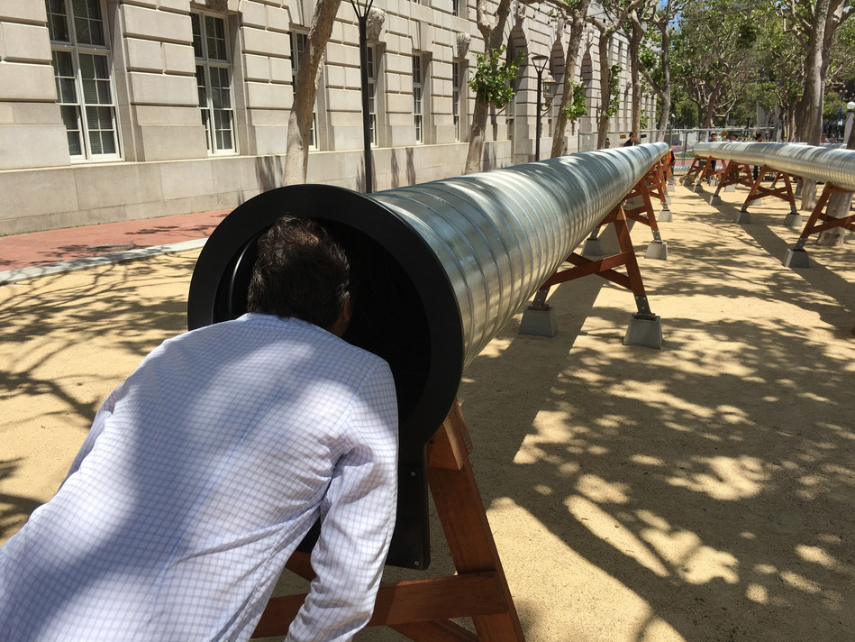 "The Exploratorium's ""Sound Commons"" at UN Plaza in San Francisco. Photo credit: The Exploratorium"