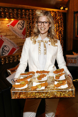 KFC celebrates the launch of its brand new Georgia Gold chicken at an event on Wednesday, January 25, 2017 in New York. (Photo by Amy Sussman/Invision for KFC/AP Images)