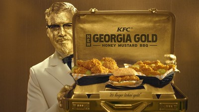 Introducing KFC's new Georgia Gold Colonel. He's classy. He's successful. He's solid gold. But most importantly, he's Billy Zane, only golder. A much golder Billy Zane.