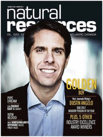Dustin Angelo, Industry Person of the Year (Natural Resources Magazine) (CNW Group/Anaconda Mining Inc.)