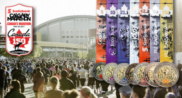 Canada's Marathon – Scotiabank Calgary Marathon – is pulling out all the stops for Canada's Sesquicentennial, including partnering with a celebrated Canadian artist David Crighton (CNW Group/Scotiabank Calgary Marathon)