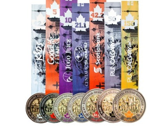 Introducing the 2017 Scotiabank Calgary Marathon Medals (CNW Group/Scotiabank Calgary Marathon)