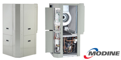 Modine Manufacturing Company will be showcasing their innovative new GeoSync geothermal unit, a water-to-air heat pump that features Modine's industry exclusive CF Microchannel Air Coil for increased 2-stage efficiency, at the 2017 AHR Expo in Las Vegas.
