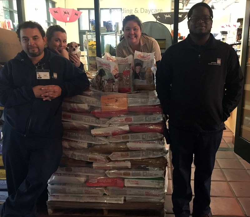 DELIVERING THE LOVE: American Humane and Chicken Soup for the Soul deliver 3,741 pounds of food to the animals at the Pasadena Humane Society @ SPCA -- part of a nationwide campaign to provide one million meals to shelter animals.