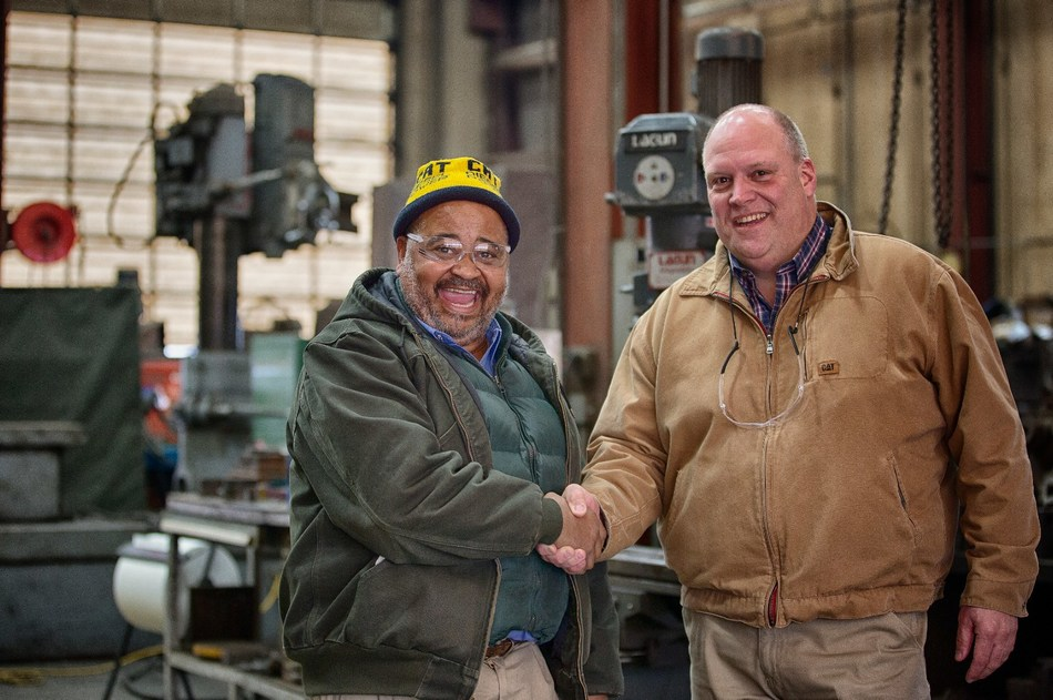Jimmie Thompson, Machine Shop Supervisor and Tim Anderson, Regional Used Equipment Sales Manager