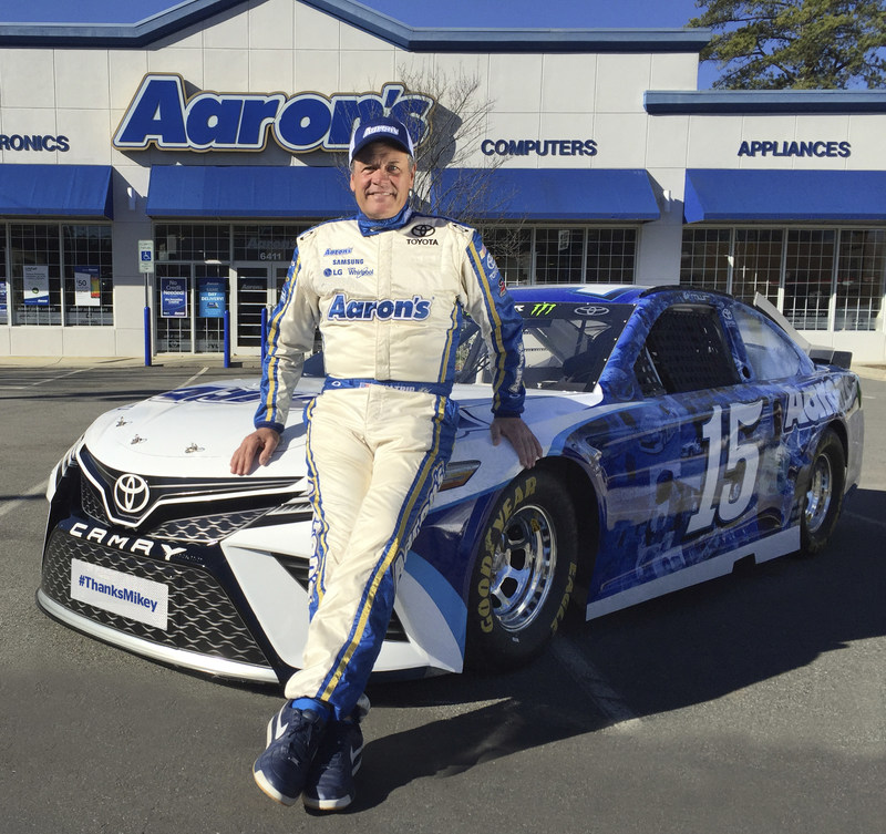 Aaron's, Inc., a leading omnichannel provider of lease-purchase solutions, and racing legend Michael Waltrip today announced that the upcoming Daytona 500 will be Waltrip's last NASCAR race. Waltrip, who will mark his 30th start at the Daytona 500 on February 26, will be at the wheel of the Aaron's #15 Thanks Mikey Toyota. The Aaron's Michael Waltrip tribute commercial will debut the week prior to the Daytona 500 and will commemorate Aaron's 17-year partnership with Michael Waltrip.
