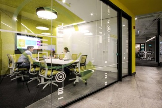 Neighbourhoods: Scotiabank's Digital Factory's neighbourhood themes and meeting rooms are named for transformational people and technologies across different dimensions of human culture. This design choice is meant to inspire our team members every day to create impact through our work. (CNW Group/Scotiabank)