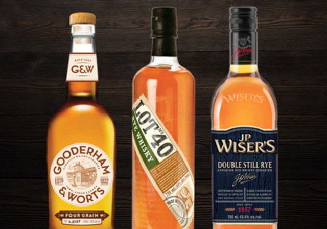 Gooderham and Worts, Lot No. 40, J.P. Wiser's Double Still Rye (CNW Group/Corby Spirit and Wine Communications)