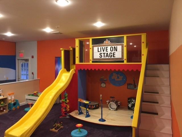 The play area at AppleJams in Shrewsbury, NJ.