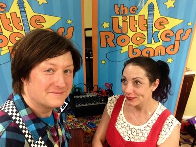 Chris and Jessie Apple, owners of Little Rockers, LLC and the new AppleJams Music & Arts Playcenter in Shrewsbury, NJ.