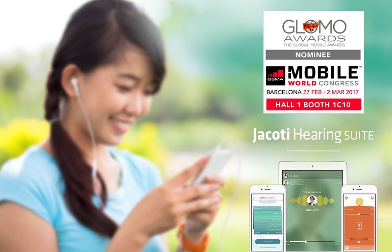 Jacoti Named as Global Mobile Awards 2017 Nominee for the Best Use of Mobile for Accessibility & Inclusion Category (PRNewsFoto/Jacoti bvba)