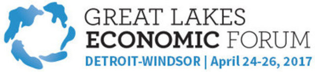 Great Lakes Economic Forum - Detroit-Windsor | April 24-26, 2017 (CNW Group/Council of the Great Lakes Region)