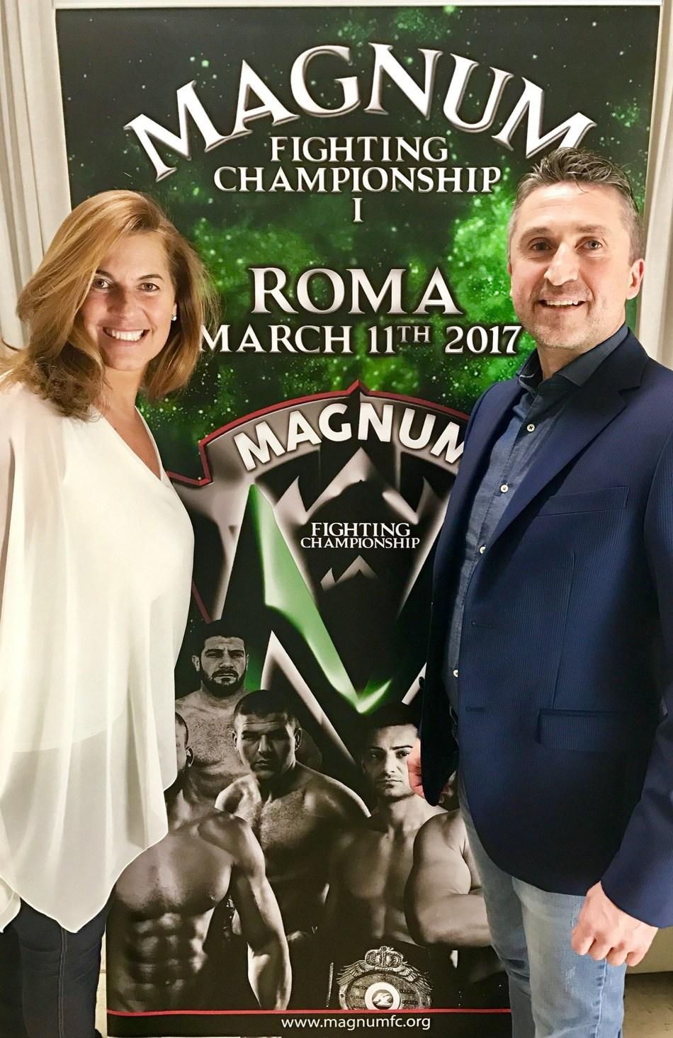 Patrizia Marin and Max Baggio, cofounders of Magnum FC (PRNewsFoto/Magnum FC)
