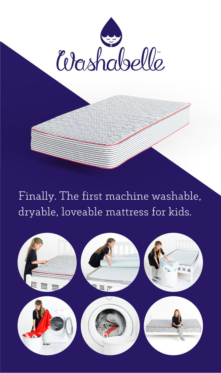 The first machine washable, dryable, memory foam mattress for kids