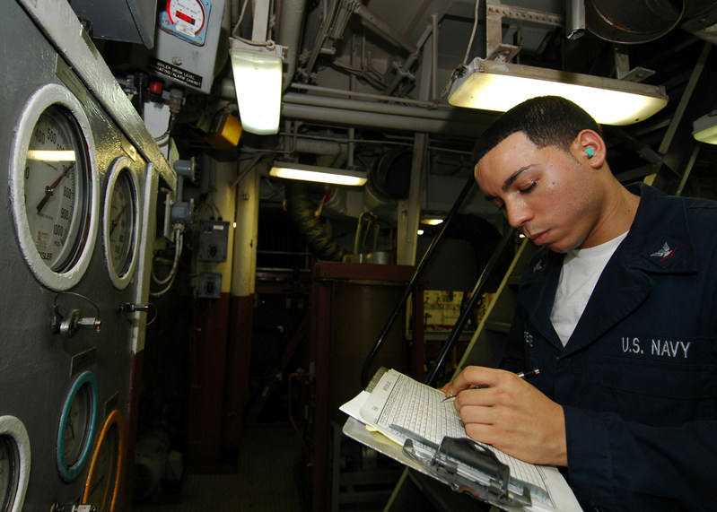 US Navy Ship Engine Room