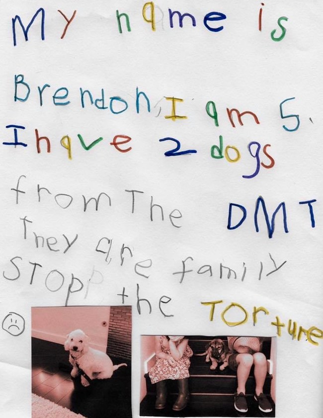 5-year-old Brendon, whose family has adopted some survivors from Yulin, speaks from his heart in his letter to help end the Yulin Dog Meat Festival! Animal Hope and Wellness Foundation's goal is to collect 100,000 handwritten letters, such as these, from children across the globe. Marc Ching will personally deliver the letters to Mr. Chen Wu, governor of the Guangxi Provence.