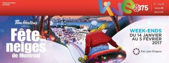 La Fête des neiges de Montréal se poursuit au parc Jean-Drapeau pour un 3e week-end (Groupe CNW/SOCIETE DU PARC JEAN-DRAPEAU)