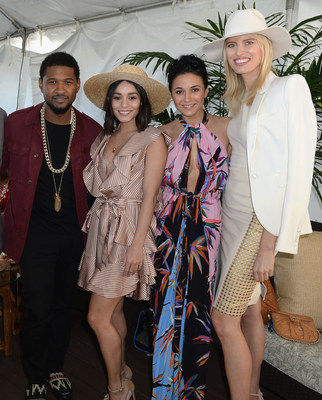 Usher, Vanessa Hudgens, Emmanuelle Chriqui, Karolina Kurkova at the $12 Million Pegasus World Cup Invitational - Photo Credit - Gustavo Caballero Getty Images