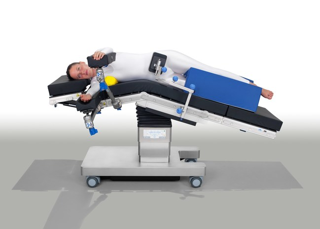 The TruSystem 3000 can be customized for different surgical procedures due to Hill-Rom's broad range of available patient positioning components and accessories, addressing hospitals' needs for higher patient acquisition and case numbers, while maintaining safety and efficiency. (PRNewsFoto/Hill-Rom Holdings, Inc.)
