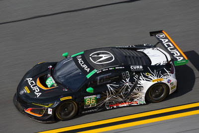The #86 Acura NSX GT3 of Jeff Segal, Ryan Hunter-Reay, Ozz Negri and Tom Dyer won the GTD North American Endurance Championship round, and finished fifth overall, at this weekend's Rolex 24 at Daytona International Speedway in Florida. (PRNewsFoto/Acura Motorsports)