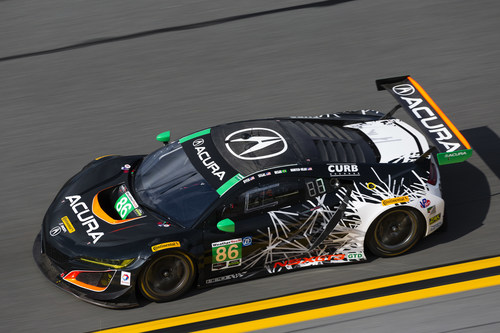 The #86 Acura NSX GT3 of Jeff Segal, Ryan Hunter-Reay, Ozz Negri and Tom Dyer won the GTD North American Endurance Championship round, and finished fifth overall, at this weekend's Rolex 24 at Daytona International Speedway in Florida.