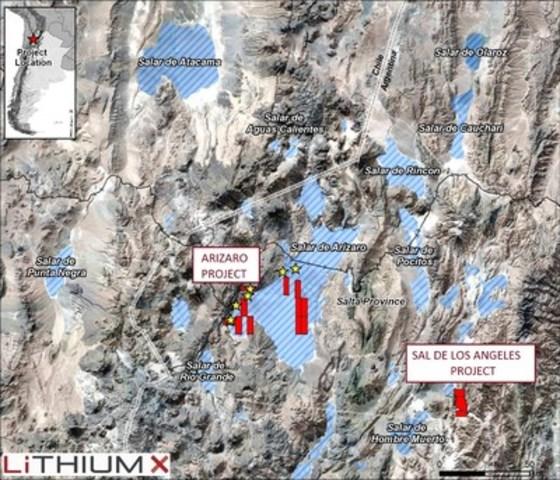 Figure 1: The Arizaro Project (CNW Group/Lithium X Energy Corp.)