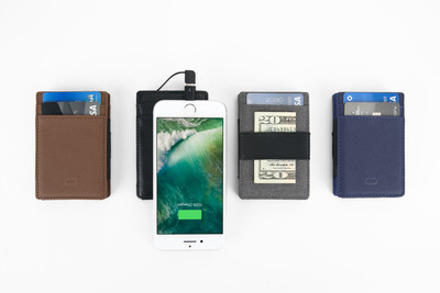 CaseCrown SlimPower Wallet is available in multiple colors and materials.