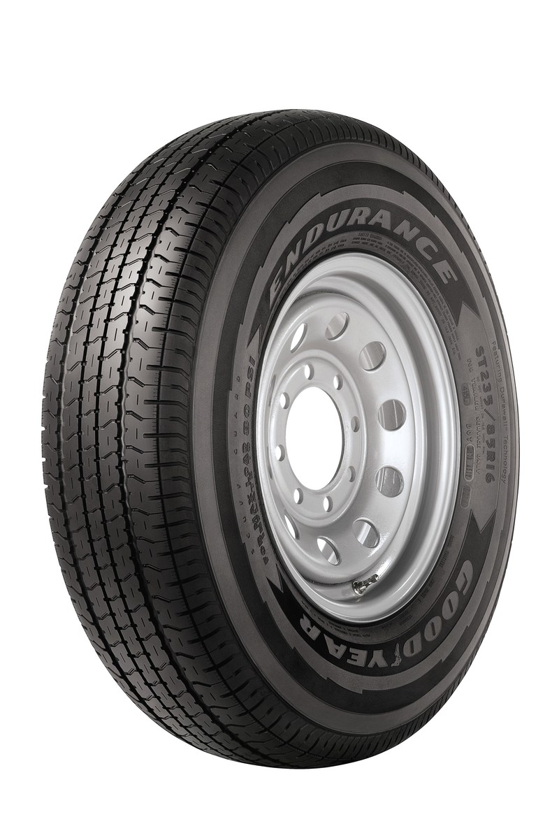 For years, hobbyists who tow boats, jet skis and snowmobiles to recreational destinations have asked for an American-manufactured trailer tire to help carry their cargo with confidence. Millions of workers who haul equipment from job to job have echoed that desire.  The Goodyear Tire & Rubber Company has answered that call with the new Endurance trailer tire.