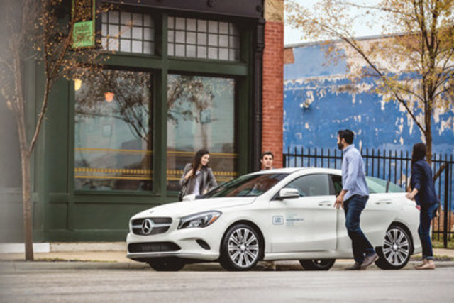 Toronto and Vancouver will be the first Canadian locations to experience 2017 Mercedes-Benz CLA and GLA car2gos in February; more Canadian and U.S. locations to ride in style in 2017. (CNW Group/Mercedes-Benz Canada Inc.)
