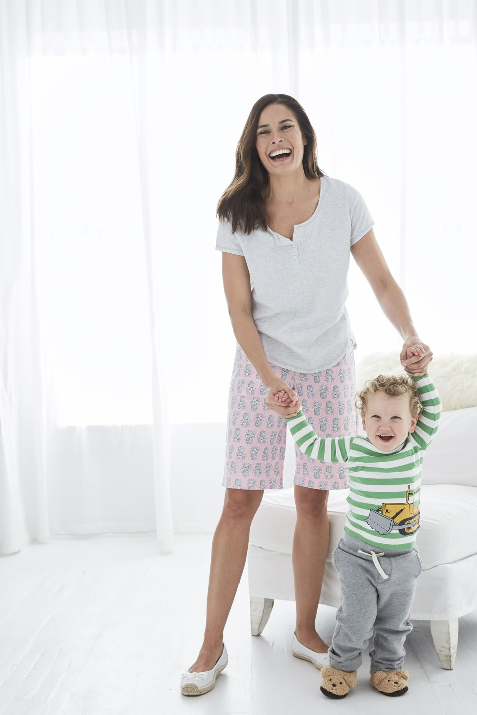 Why Stress? Enjoy Yourself This Valentine's Day in Pretty in Pink Comfy Shorts from Karen Neuburger.