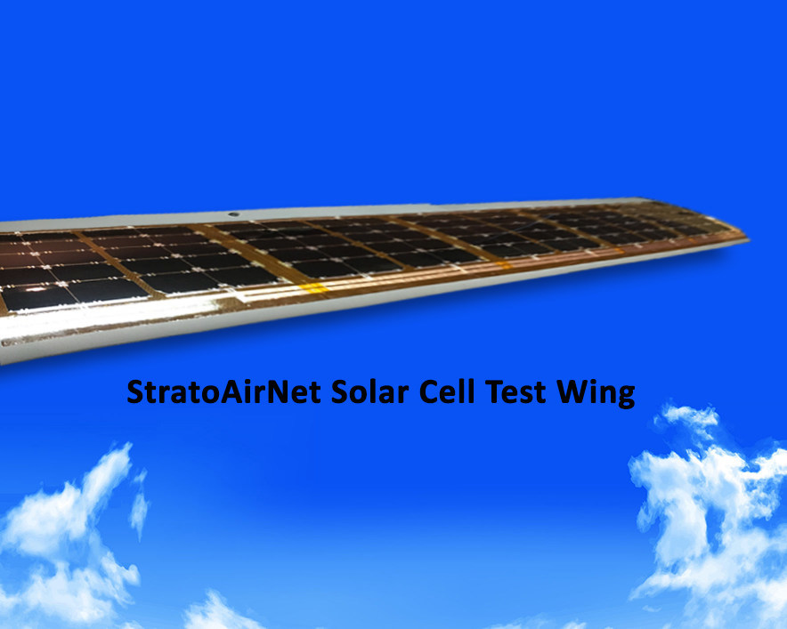 StratoAirNet Test Wing with SolAero Solar Cells
